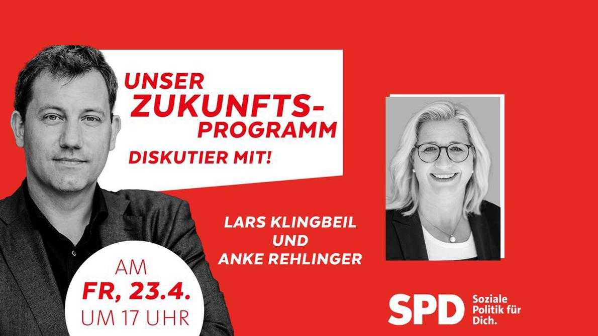Zukunftsgespräch mit Lars Klingbeil und Anke Rehlinger